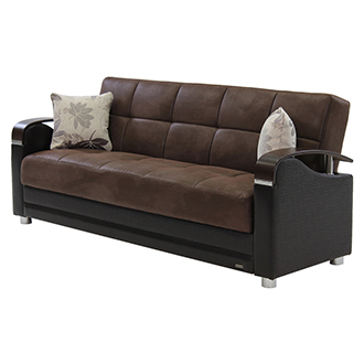 Peron Chocolate Futon Sofa