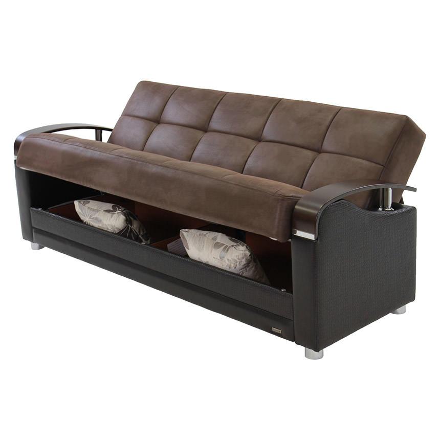 Peron Chocolate Futon Sofa | El Dorado Furniture