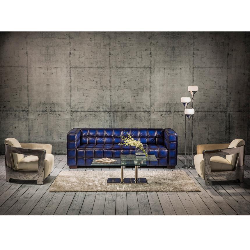 Aviator White Leather Accent Chair El Dorado Furniture