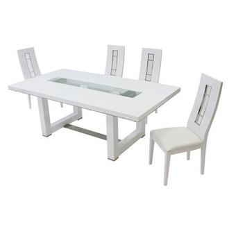 Novo White 5-Piece Formal Dining Set