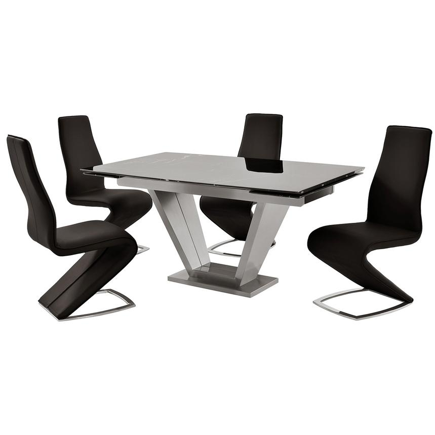 Jessy Black 5-Piece Formal Dining Set  main image, 1 of 12 images.