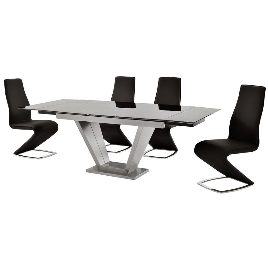 Jessy Black 5-Piece Formal Dining Set  alternate image, 2 of 12 images.