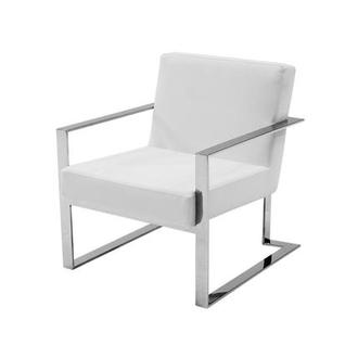 Motivo White Accent Chair