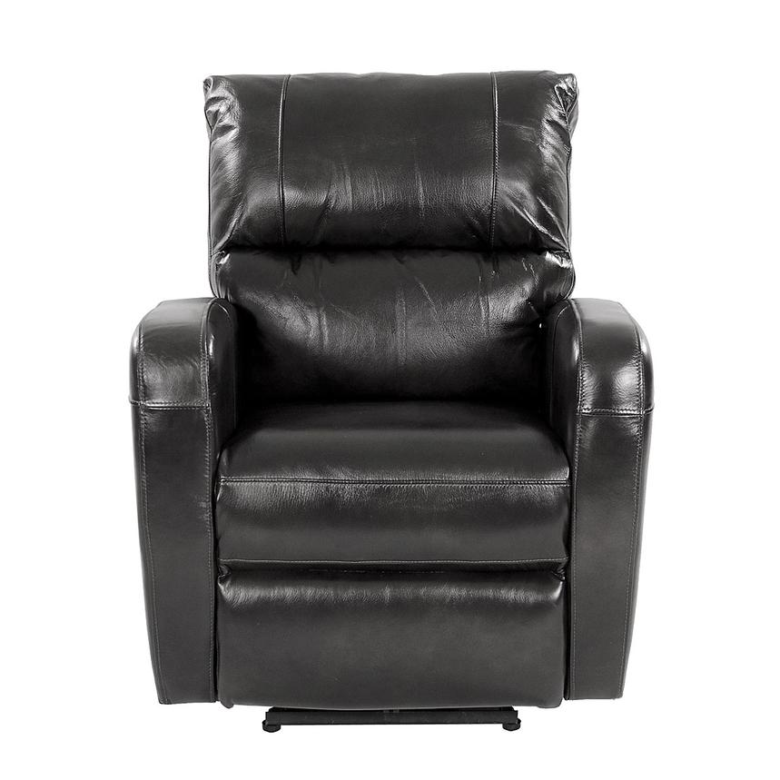 Keegan Black Power Motion Leather Recliner  alternate image, 2 of 8 images.