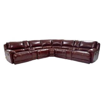 Theodore Burgundy Power Reclining Leather Sofa