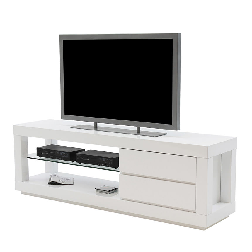 Max White TV Stand  main image, 1 of 5 images.