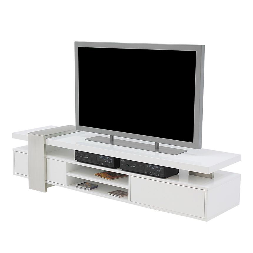 Totem White TV Stand  main image, 1 of 6 images.