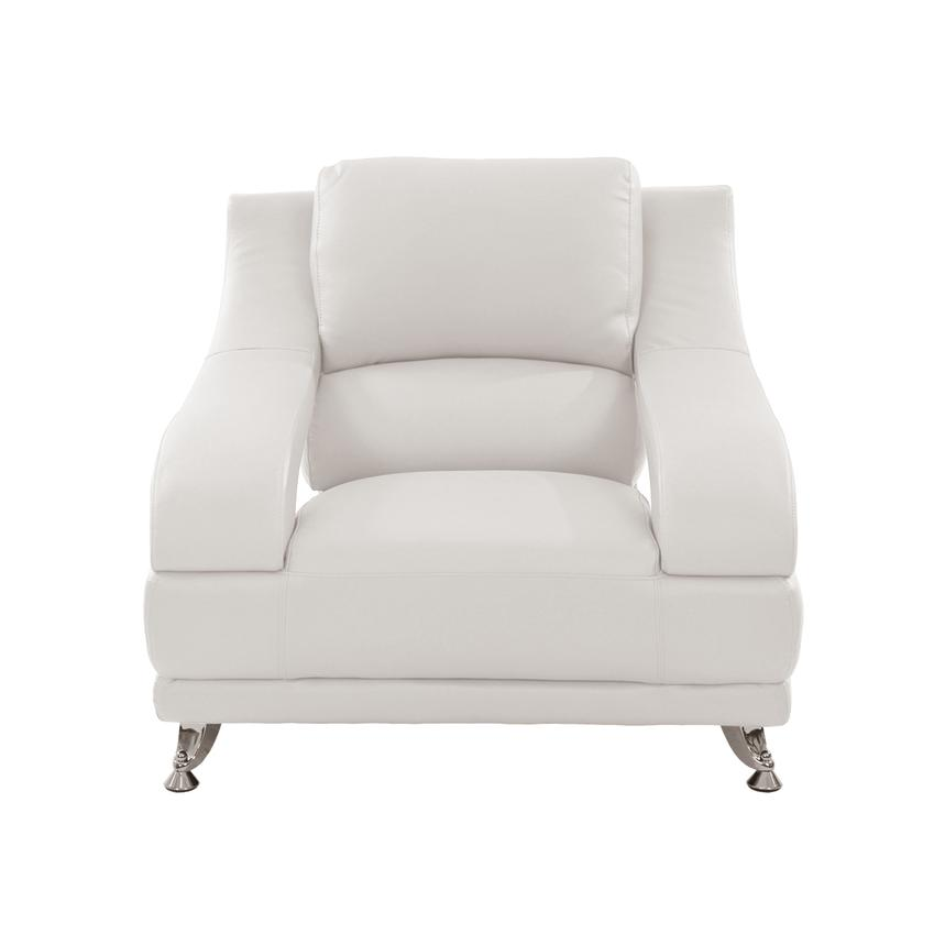 Jedda White Leather Chair  alternate image, 2 of 6 images.