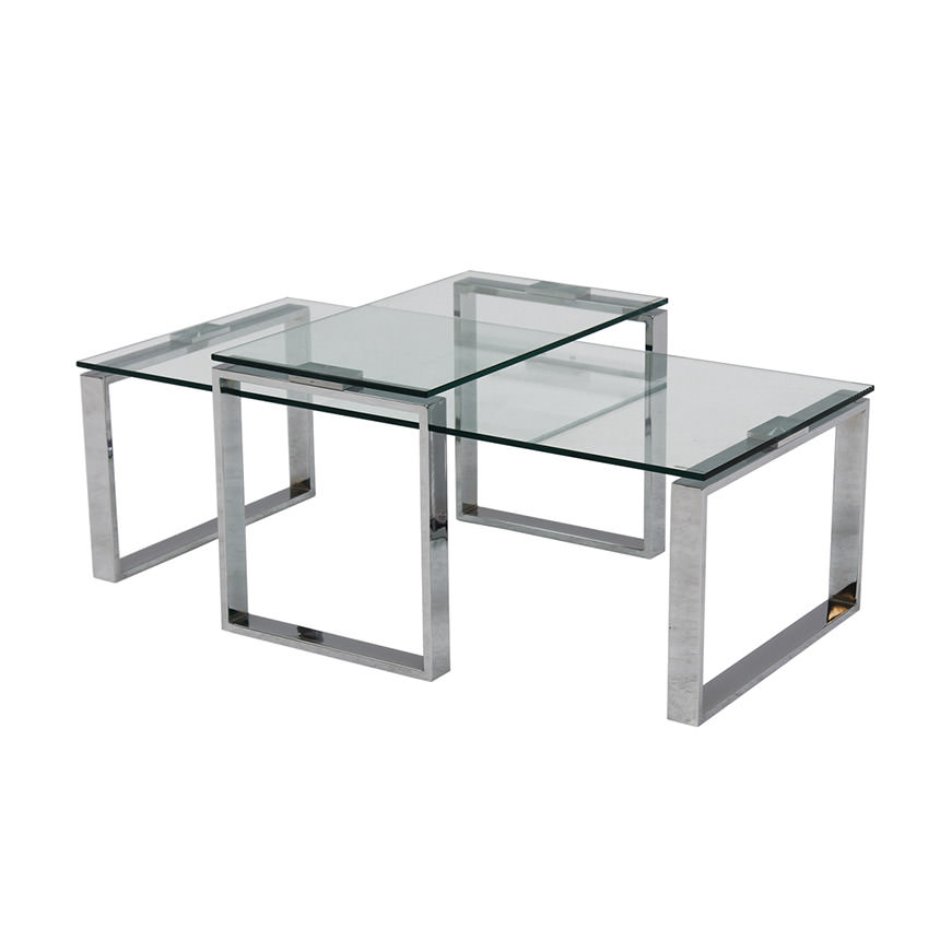Katrine Clear Coffee Table Set of 2  main image, 1 of 5 images.