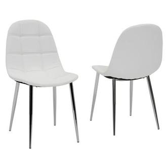 Clotus White Side Chair