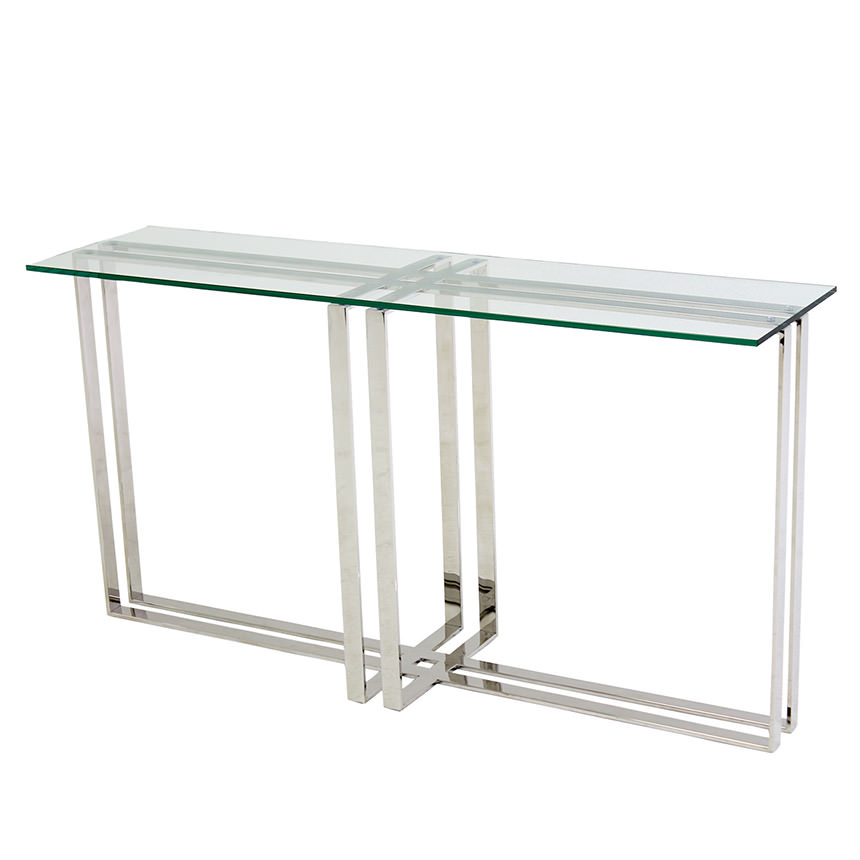 Riga Clear Console Table  main image, 1 of 5 images.