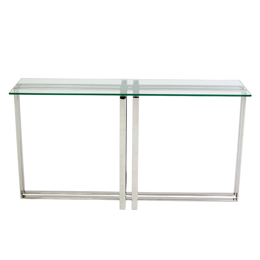Riga Clear Console Table  alternate image, 2 of 6 images.