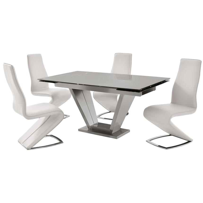 Jessy White 5-Piece Formal Dining Set  main image, 1 of 12 images.