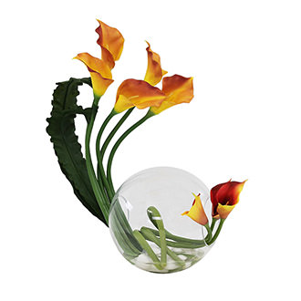 Crosswinds Orange Flower Arrangement