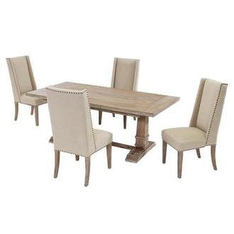 Hudson Cream 5-Piece Formal Dining Set
