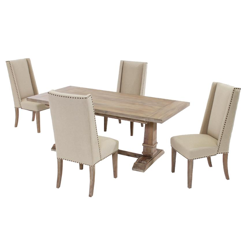 Hudson Cream 5 Piece Formal Dining Set