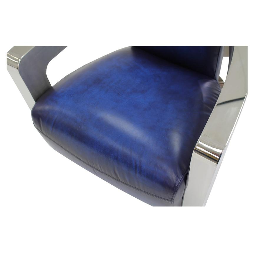 Aviator Blue Leather Accent Chair El Dorado Furniture