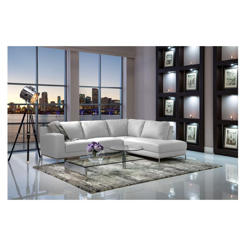 Cantrall White Sofa W Right Chaise Alternate Image 2 Of 6 Images
