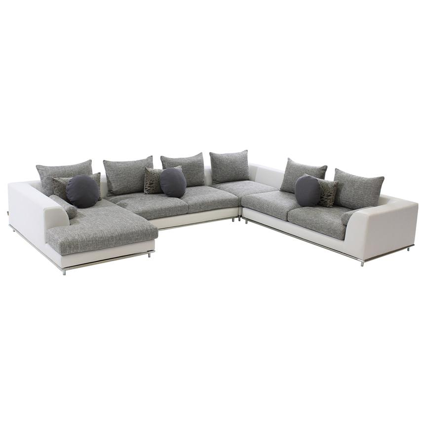 Hanna Sectional Sofa w/Left Chaise  main image, 1 of 5 images.