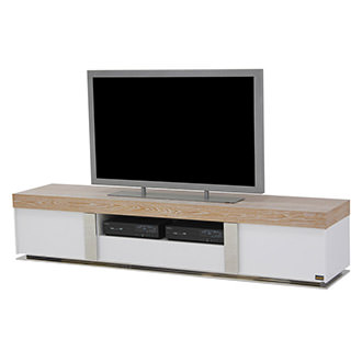 Grand  Night White Wash TV Stand
