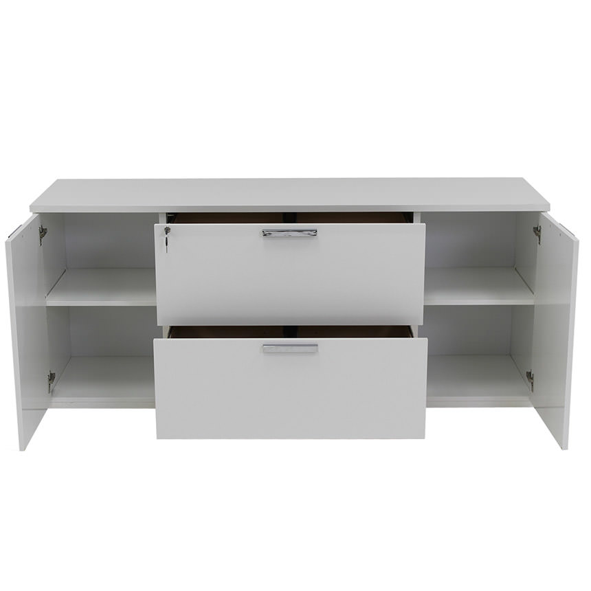 Sedona White Credenza Made in Italy  alternate image, 2 of 6 images.