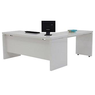 Sedona White L-Shaped Desk Made in Italy