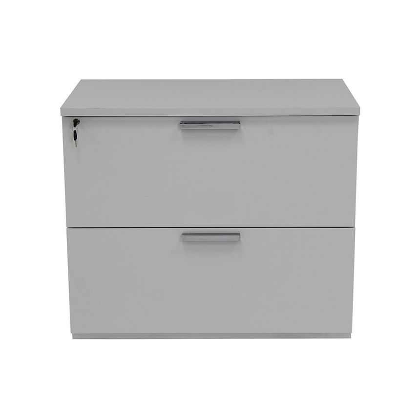 Sedona White Lateral File Cabinet Made in Italy  alternate image, 2 of 5 images.
