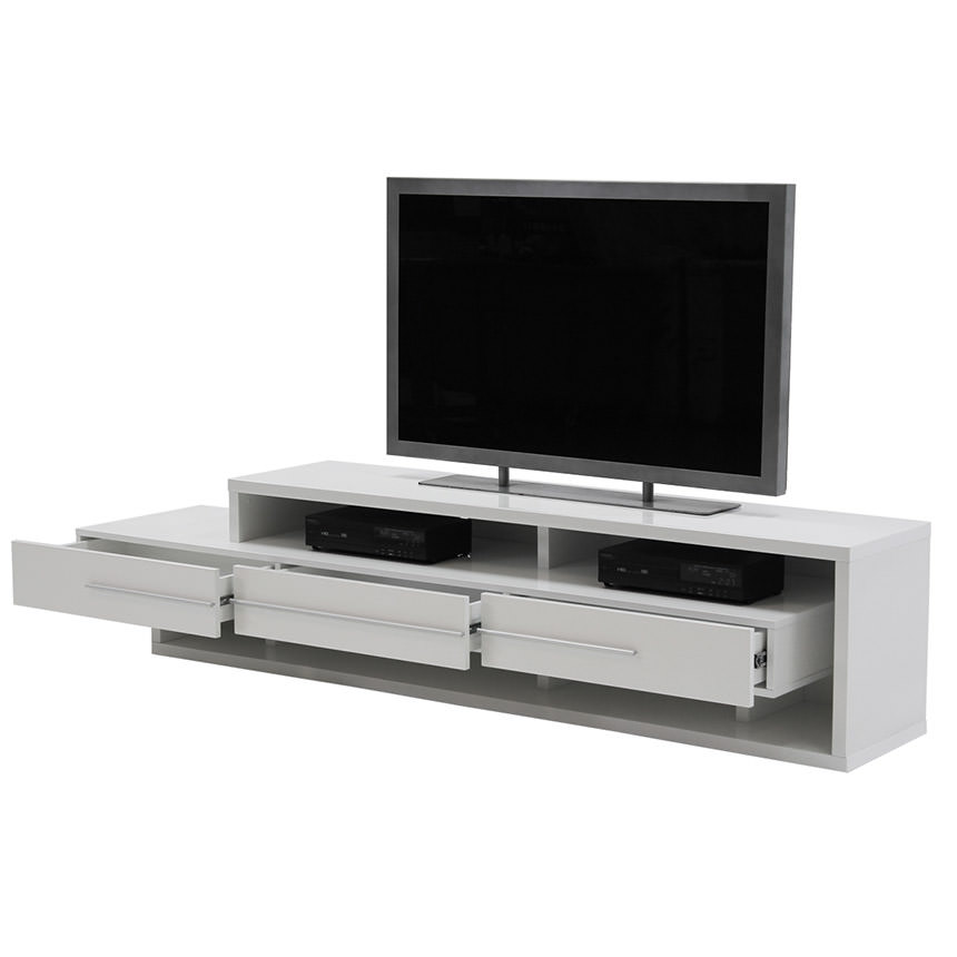 Avanti White TV Stand  alternate image, 2 of 6 images.