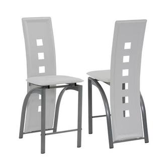 Dominoes White Counter Stool
