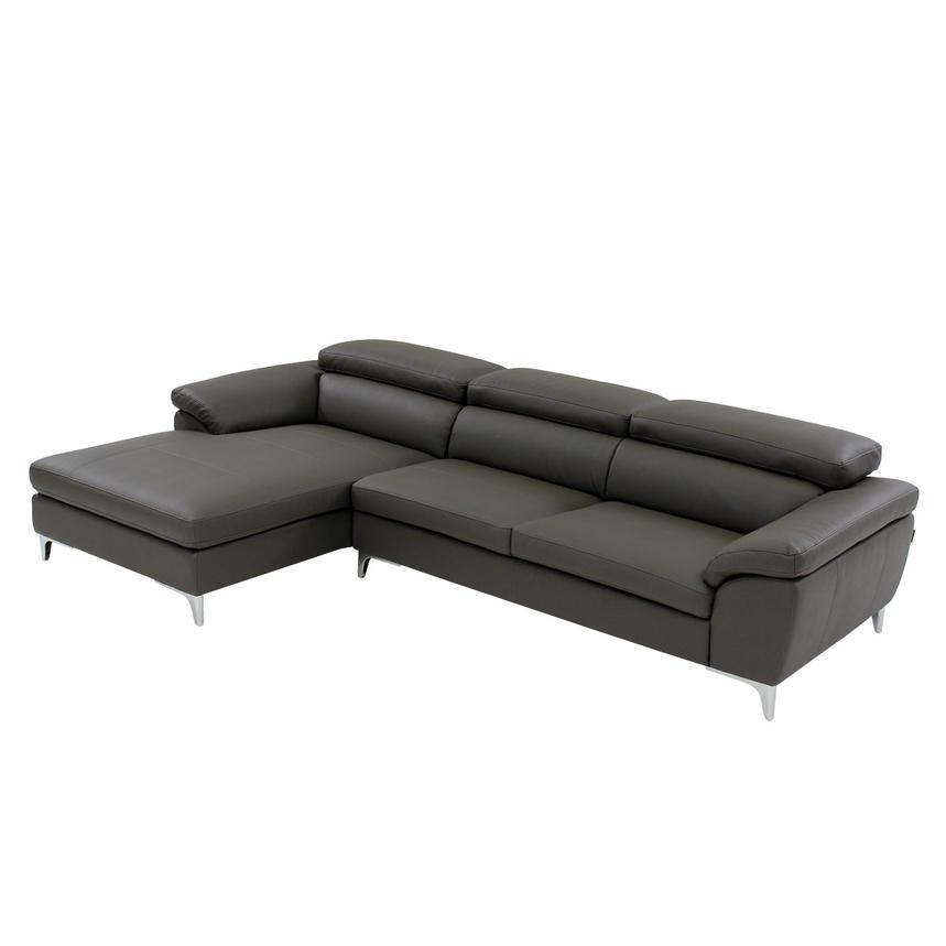 Costa Gray Corner Sofa w/Left Chaise  main image, 1 of 7 images.