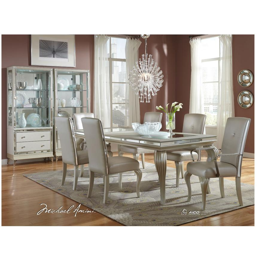 Hollywood Loft Frost 5-Piece Formal Dining Set  alternate image, 2 of 11 images.
