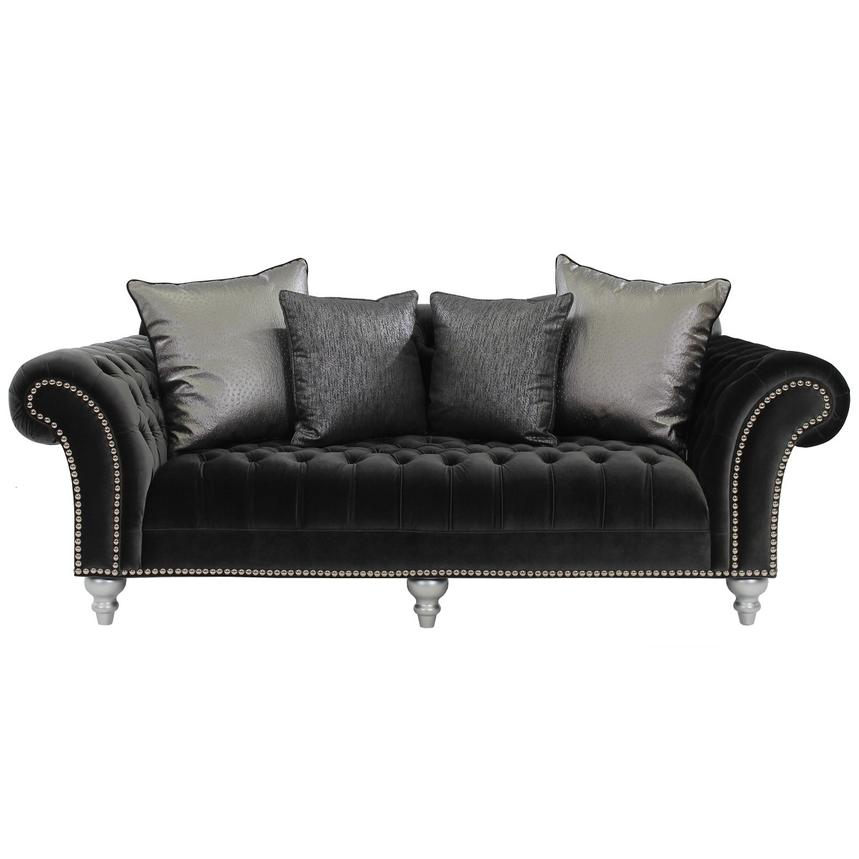 Laura Dark Gray Sofa Alternate Image 2 Of 5 Images