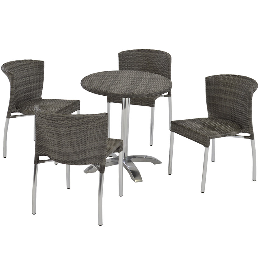 Gerald Gray 5-Piece Patio Set  main image, 1 of 7 images.