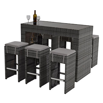 Neilina Gray 5 Piece Patio Set El Dorado Furniture