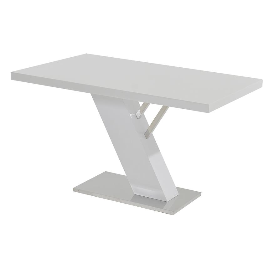 Linden White Rectangular Dining Table  main image, 1 of 5 images.