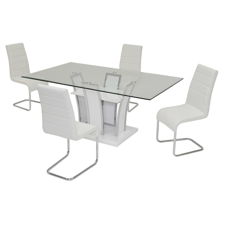 Dash White 5-Piece Casual Dining Set  main image, 1 of 7 images.