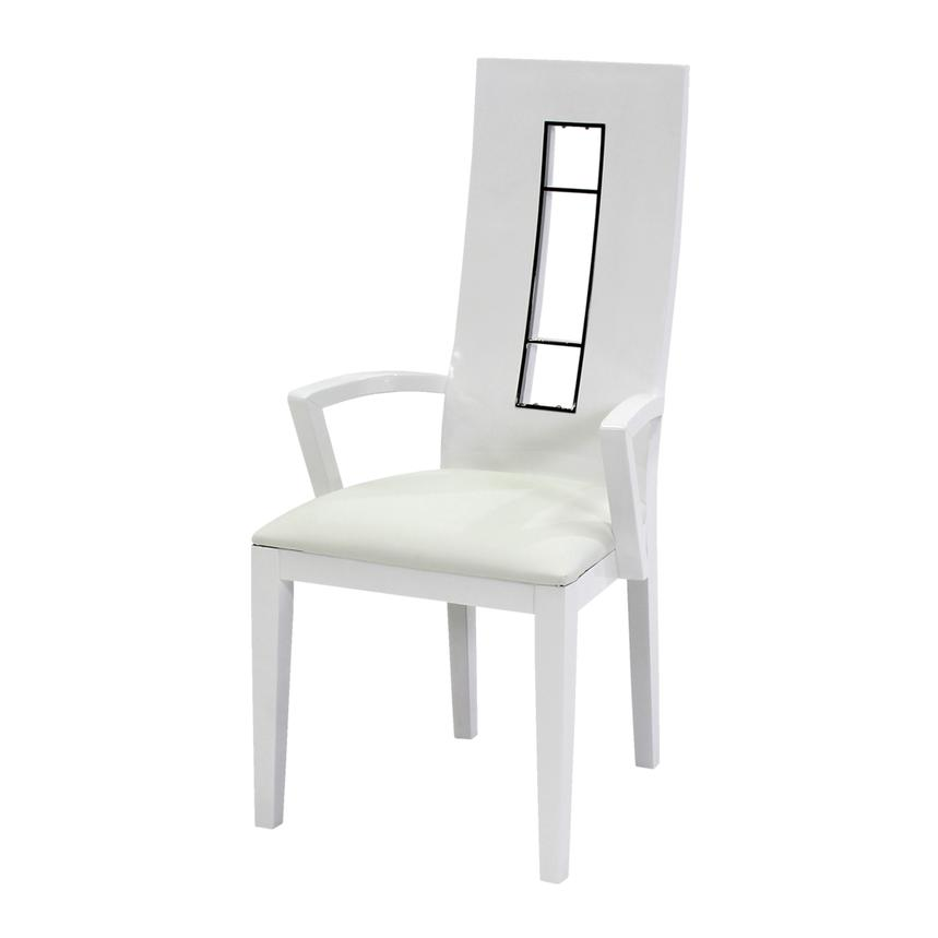 Novo White Arm Chair  alternate image, 2 of 4 images.