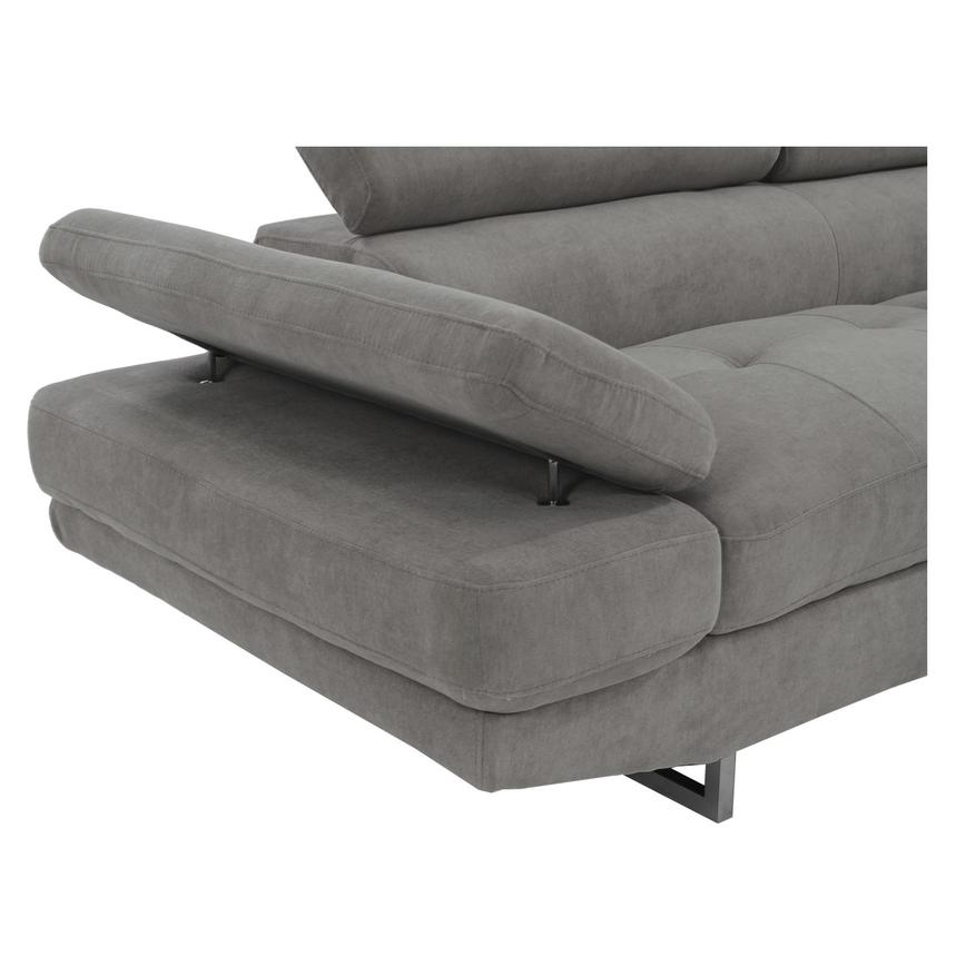 Taheri Gray Corner Sofa w/Right Chaise  alternate image, 5 of 8 images.