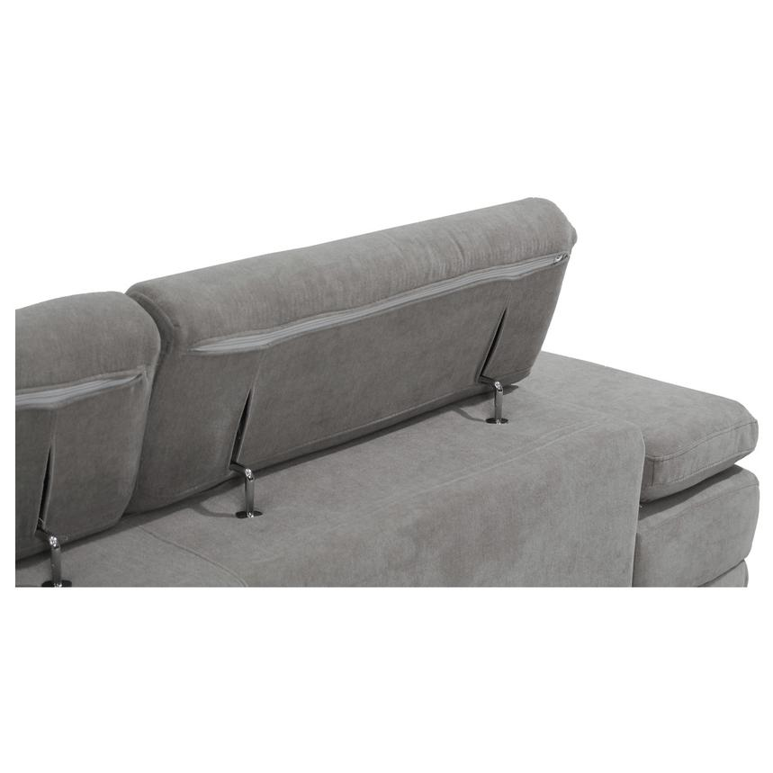 Taheri Gray Sofa w/Right Chaise  alternate image, 7 of 7 images.
