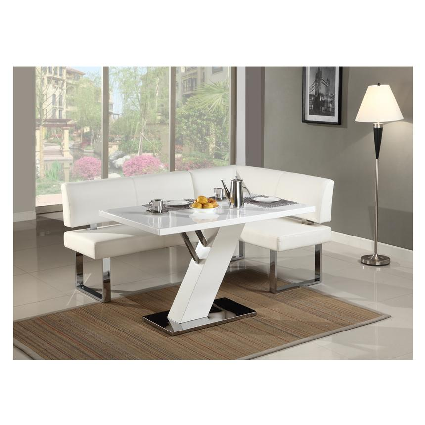 Linden White Rectangular Dining Table  alternate image, 2 of 5 images.