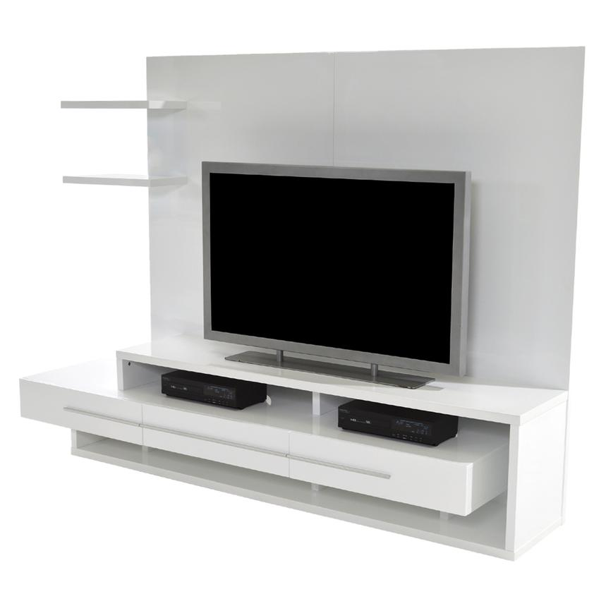 Avanti White Wall Unit  main image, 1 of 7 images.
