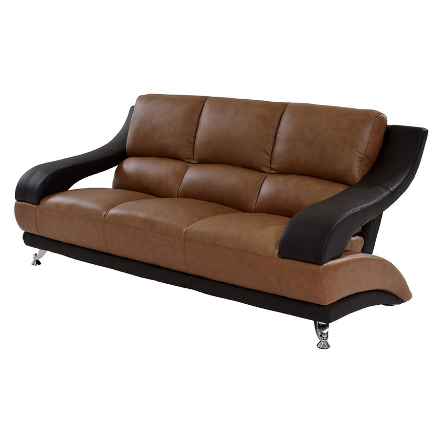 Jedda Camel Leather Sofa  main image, 1 of 7 images.
