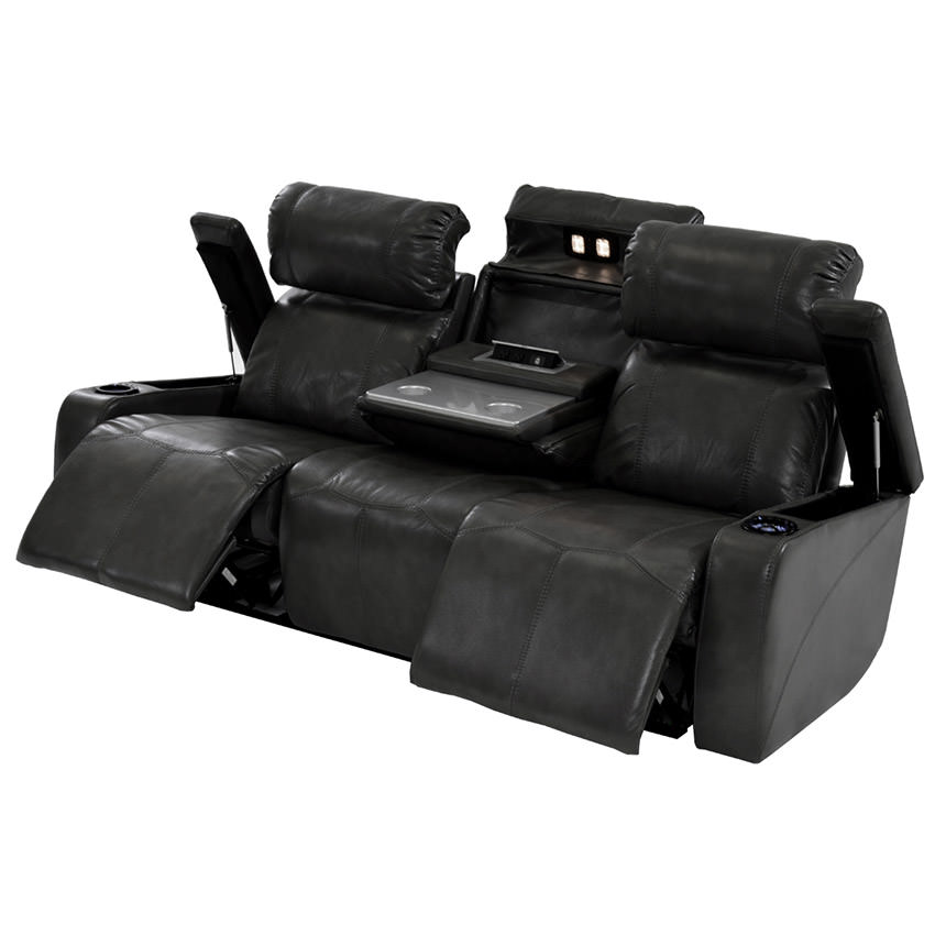 Magnetron Black Power Motion Sofa  alternate image, 2 of 9 images.