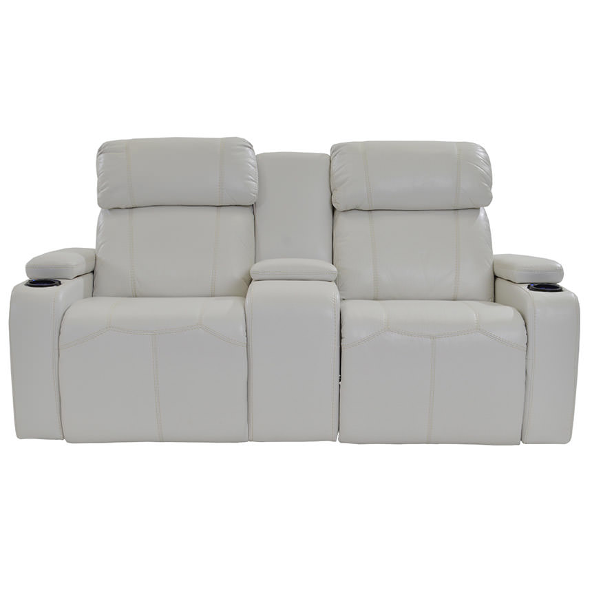 Magnetron White Power Motion Sofa w/Console  alternate image, 2 of 8 images.