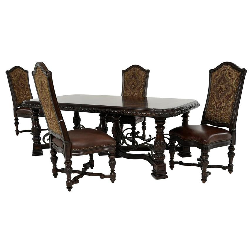 Opulent 5-Piece Formal Dining Set  main image, 1 of 16 images.