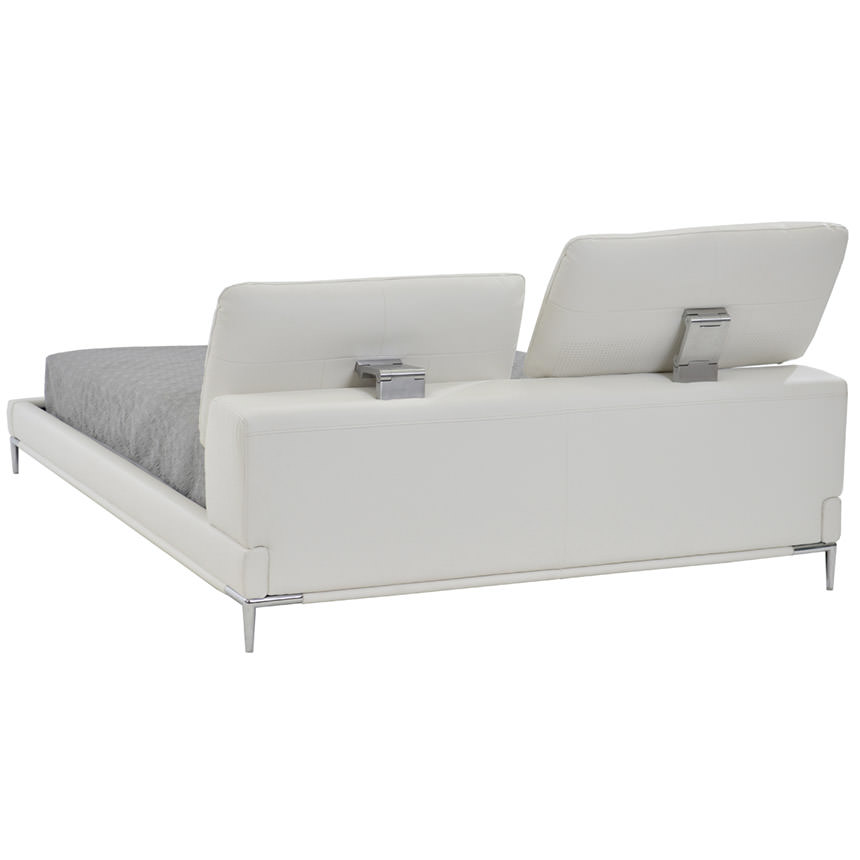 Ella White Queen Platform Bed  main image, 1 of 8 images.