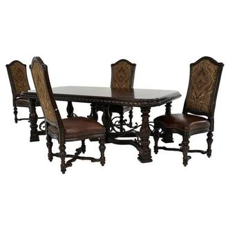 Opulent 5-Piece Formal Dining Set