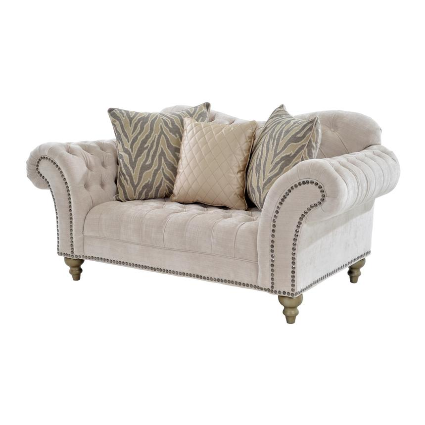 Laura Cream Loveseat  main image, 1 of 6 images.