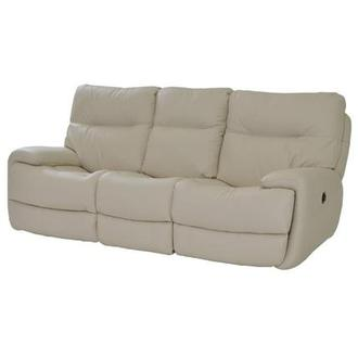 Evian Cream Power Motion Leather Sofa