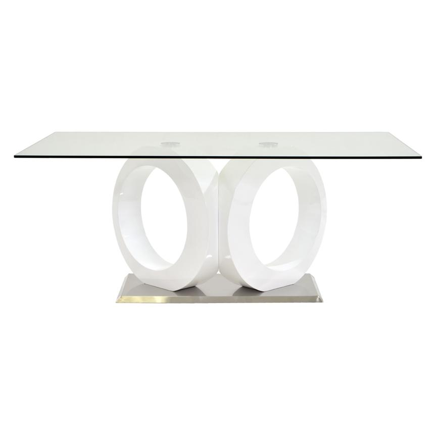 Stop 36 White Rectangular Dining Table  alternate image, 6 of 8 images.
